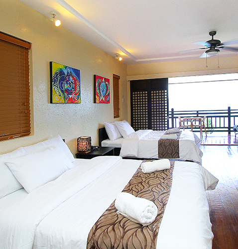 Villa Suite big room for family dive resort with overlooking room view